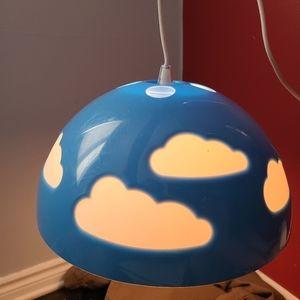 Discontinued Ikea blue cloud hanging light